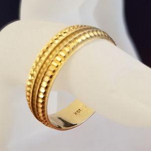 Unisex 10k Gold Ring